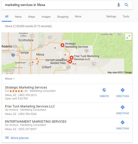 Marketing Services in Mesa
